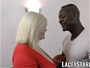 LACEYSTARR - granny anally creampied with bbc