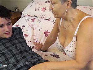 AGEDLOVE grandmother Savana humped with truly rigid stick